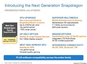 Qualcomm leaks specs for upcoming Snapdragon processors