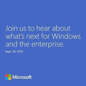 Invites sent for September 30th 'Windows 9' event