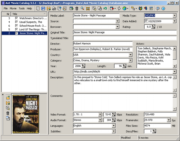 catalog your movies 5 programs compared afterdawn
