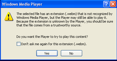 how to play webm files in windows media player